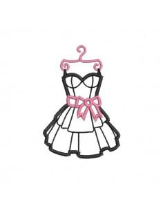 embroidery design black dress applique