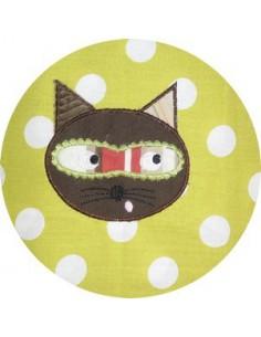 Motif de broderie machine Le chat masqué