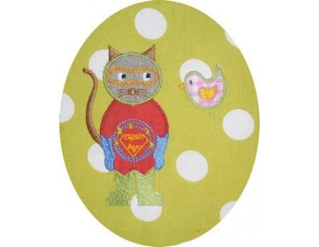 Le chat super héro