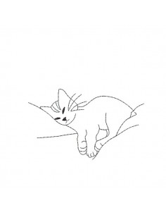 Instant download machine embroidery  Cat sleeping