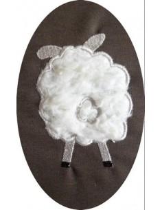 Motif de broderie machine Mouton de dos