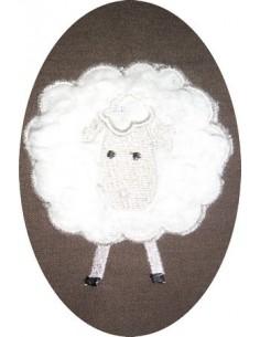 Motif de broderie machine Mouton de face