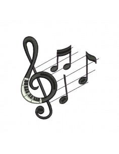 embroidery design music notes