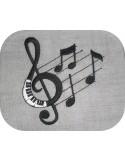 motif de broderie notes de musique