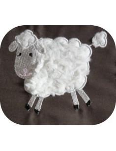 Motif de broderie machine Mouton de profil