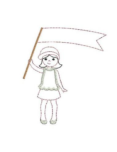 Petite fille au drapeau
