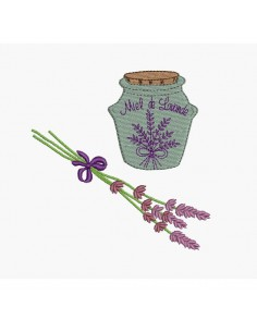 Instant download machine embroidery lavender honey
