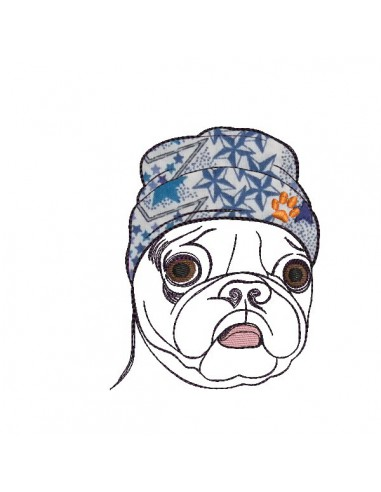 Instant download machine embroidery dog carlin