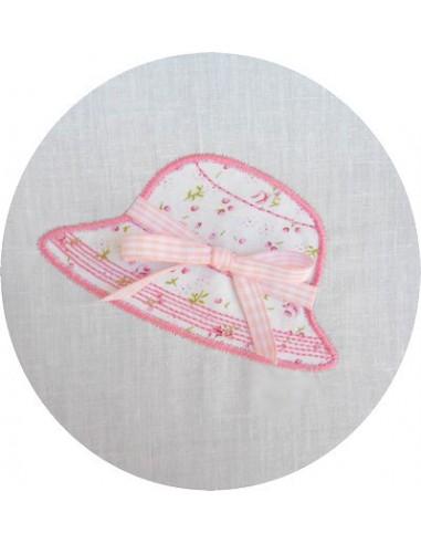 motif de broderie chapeau