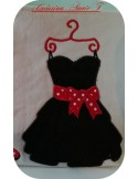 embroidery design black dress