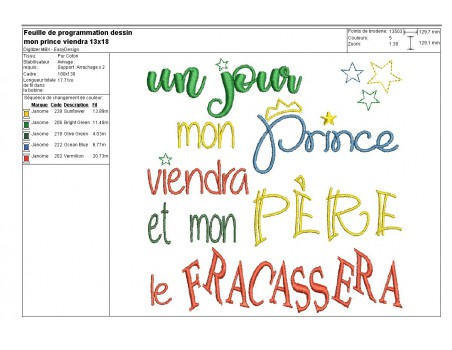 Instant download machine embroidery prince