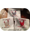 Instant download machine embroidery Checked hen