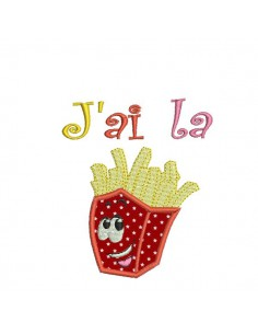 Instant download machine embroidery I have fries