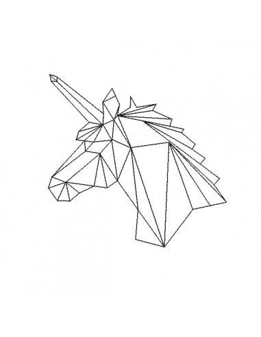 Motif de broderie machine tête de licorne scandinave