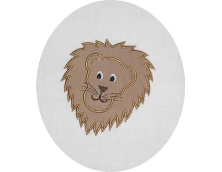 Motif de broderie lion