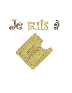 Instant download machine embroidery french biscuit