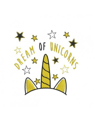 Instant download machine embroidery unicorn