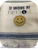 Motif de broderie machine le sourire du breton