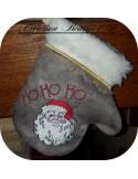 Motif de broderie machine moufles de Noël ITH