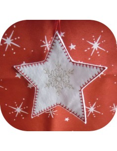 Instant download machine embroidery design snow star