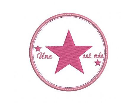 Ecusson étoile personnalisable
