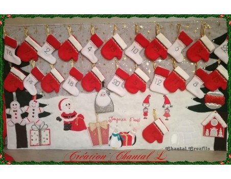 Instant download machine embroidery christmas deer