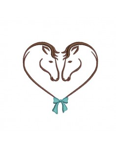 Instant download machine embroidery horse heart