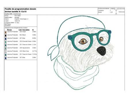 Instant download machine embroidery  Bichon maltese dog