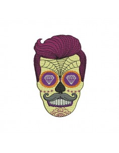 Instant download machine embroidery design sugar skull