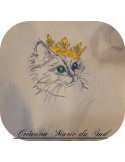 Instant download machine embroidery lion hipster