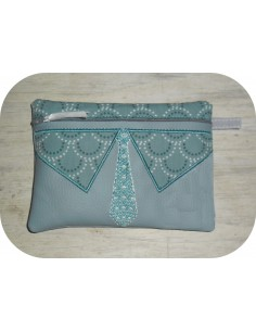 Motif de broderie machine ITH trousse col polo