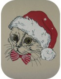 Instant download machine embroidery  cat so cute mylar
