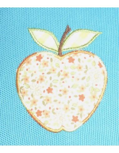 Motif de broderie la pomme
