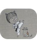 Instant download machine embroidery design girl selfie mylar