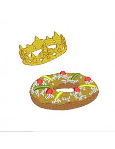 Instant download machine embroidery king cake