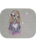 Instant download machine embroidery design yoga girl