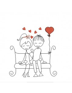 Instant download machine embroidery design sweetheart on a swing