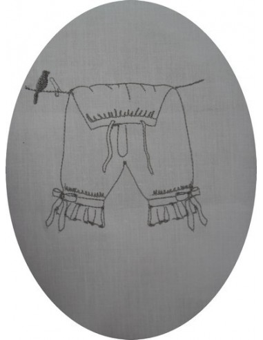Lingerie panty redwork 10x10cm