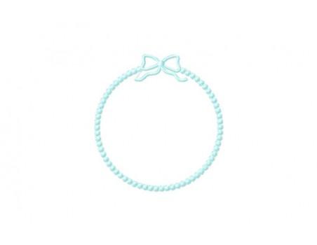 Cadre perlé au ruban 3 formats