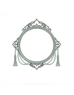 Embroidery design applique frame Baroque