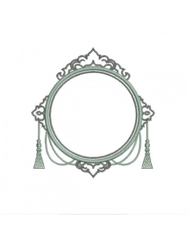Embroidery design applique frame constance