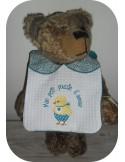 machine embroidery design Scalloped  Bib ITH