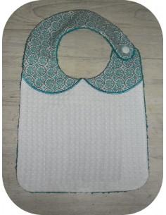 machine embroidery design   Bib ITH