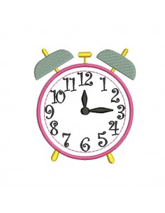 Instant download machine embroidery  alarm clock
