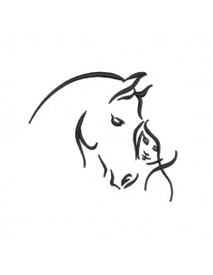 Instant download machine embroidery horse