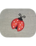 Instant download machine embroidery ladybug mylar