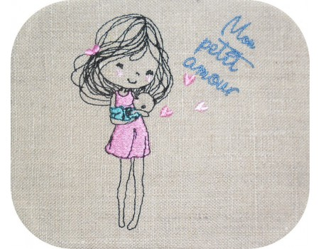 Instant download machine embroidery design baby love