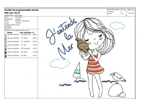 Instant download machine embroidery design baby