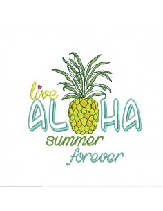 Instant download machine embroidery  watermelon hello summer