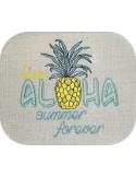Instant download machine embroidery  watermelon hello summer